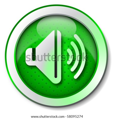 Sound listen icon - stock photo