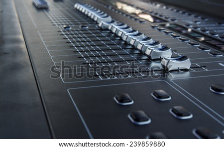 Sound mixer useful for various music - stock photo