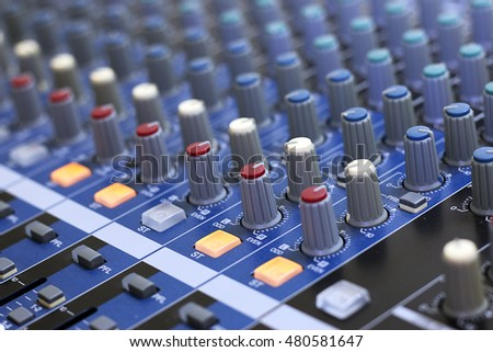sound music mixer control panel
