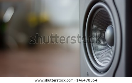 Sound space in room - stock photo