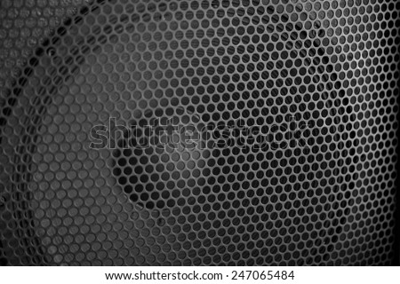 Sound Speaker grill texture. Macro shot  - stock photo