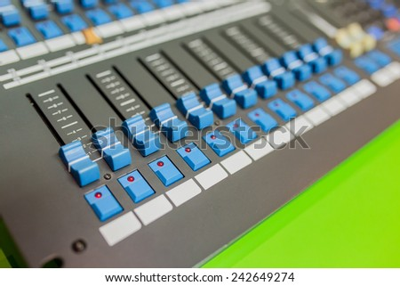 Sound system control panel
