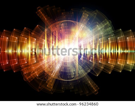 Sound wave background suitable as a backdrop for music, technology and sound projects - stock photo