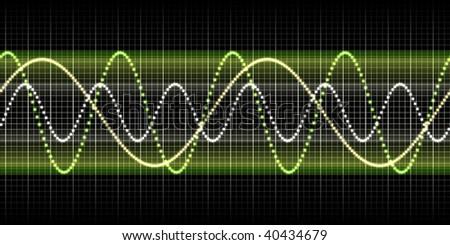 sound wave graphic - stock photo
