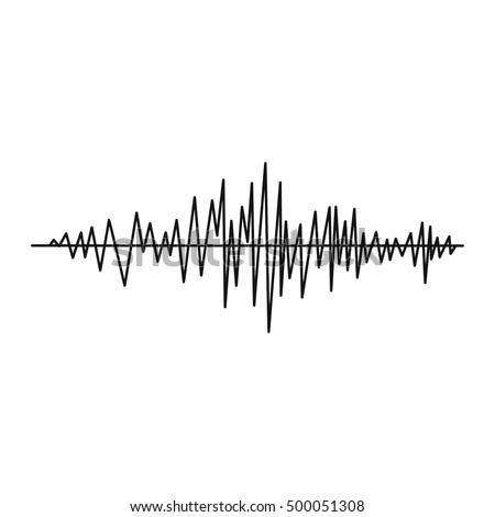 music sound waves set isolated on stock vector 583685434
