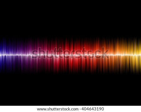 Sound wave on black background