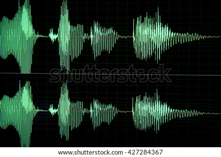 Sound waves in  computer program
