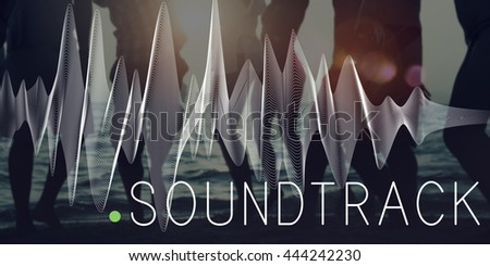 Soundtrack Audio Background Balance Media Concept - stock photo