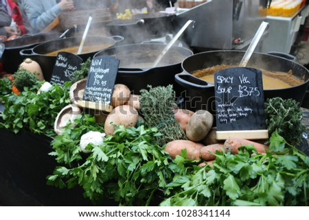 Soup at a Food Market