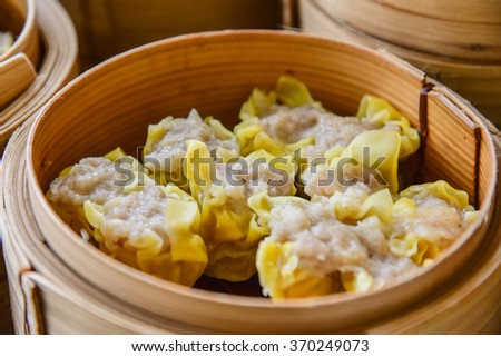 Soup dumplings ready to eat