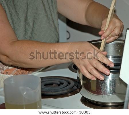 Soup kitchen volunteers 3 - stock photo