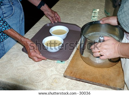 Soup kitchen volunteers 8 - stock photo