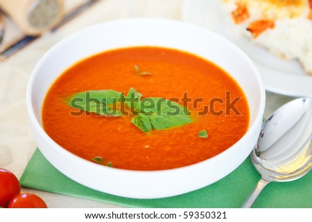 Soup of a day - stock photo