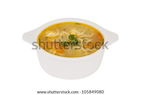 soup on a white background - stock photo