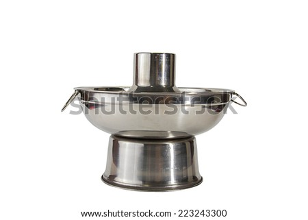 soup pot isolate on white clipping path