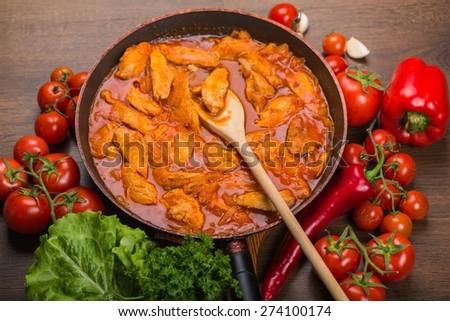 Soup, pot, stew. - stock photo