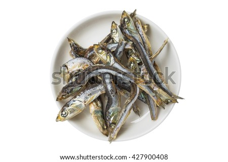 Soup stock of dried sardines Japan - stock photo