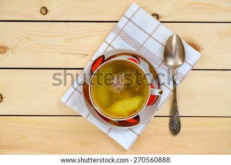 Soup with meat balls - stock photo