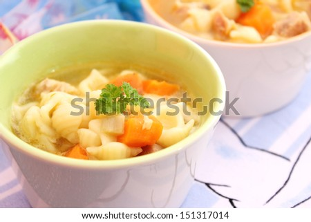 soup with noodles