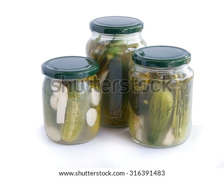 sour cucumber as salad and preserve