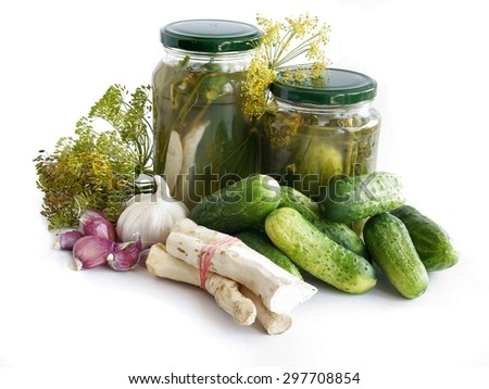 sour cucumber preserve - stock photo