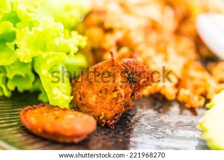 Sour pork,sausage pork and spicy pork, Thai food set, - stock photo