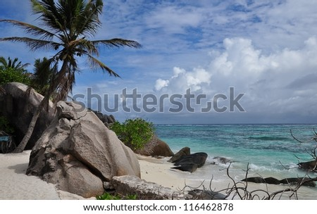 Source d'Argent, a tropical beach at Seychelles 2