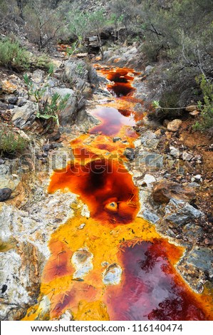 Source of Tinto river, Andalusia (Spain) - stock photo