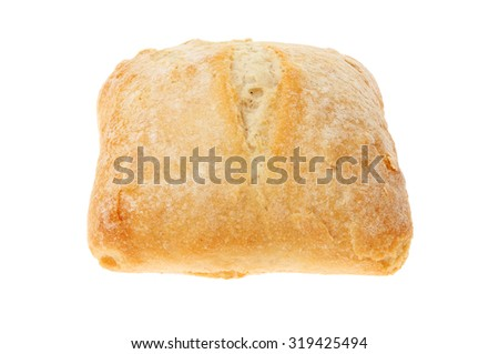 Sourdough bread roll isolated against white - stock photo
