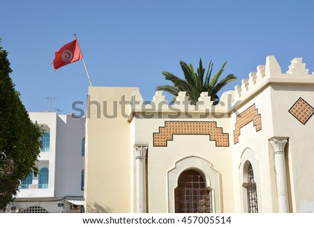 SOUSSE,TUNISIA - JUNE 28,2016:the walls of the fortress of Ribat
