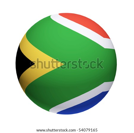 South africa ball over white background. Isolated illustration - stock photo
