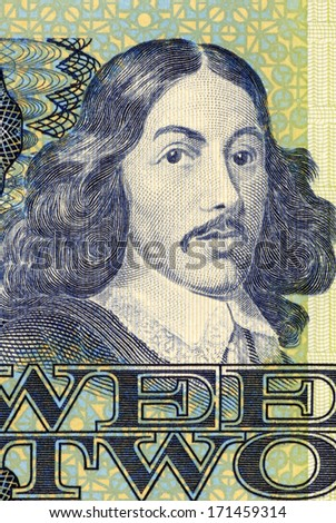 SOUTH AFRICA - CIRCA 1983: Jan van Riebeeck (1819-1877) on 2 Rand 1983 Banknote from South Africa. Dutch colonial administrator and founder of Cape Town. - stock photo