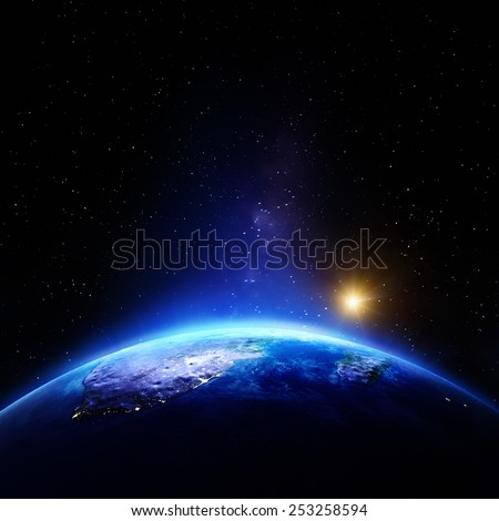 South Africa. Elements of this image furnished by NASA - stock photo