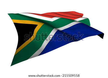 South Africa flag - collection no_5  - stock photo