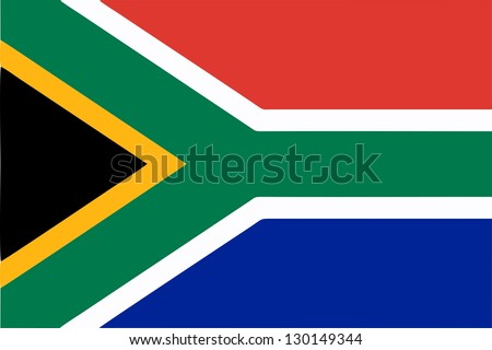 South Africa flag icon - isolated illustration - stock photo