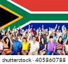 South Africa Flag Patriotism South African Pride Unity Concept - stock photo