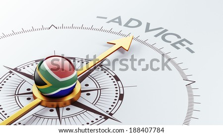 South Africa High Resolution Advice Concept - stock photo