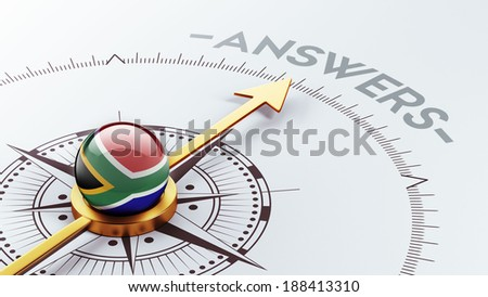 South Africa High Resolution Answers Concept - stock photo