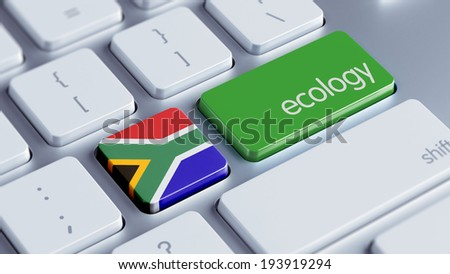 South Africa High Resolution Ecology Concept - stock photo