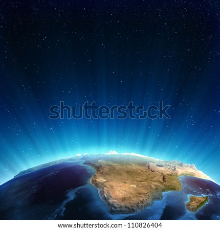 South africa real relief. Elements of this image furnished by NASA - stock photo