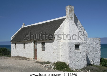 South Africa West Coast house - stock photo
