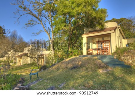South African Lodge in Mpumalanga region - stock photo
