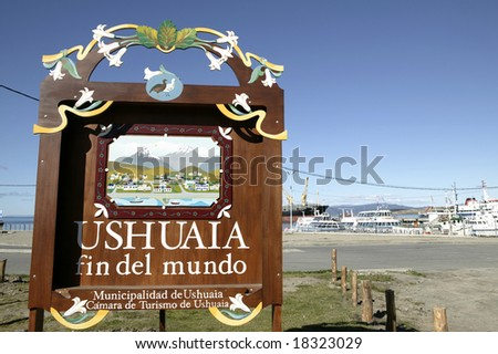 South America. Argentina. Patagonia. Tierra del Fuego. USHUAIA. - stock photo