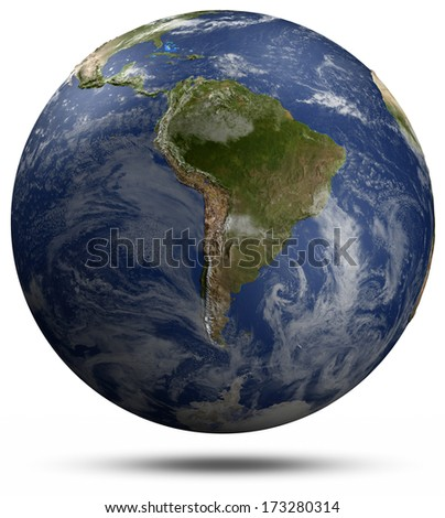 South America. Elements of this image furnished by NASA - stock photo
