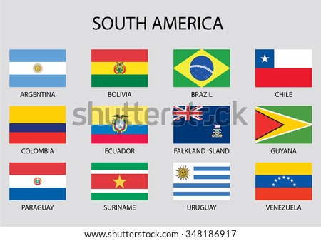 South America Flag Collection