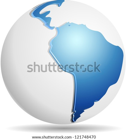 South America Globe - stock photo