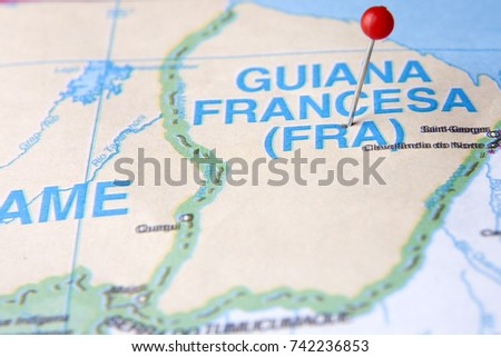 French Guiana Map Stock Images RoyaltyFree Images Vectors - South america french guiana map