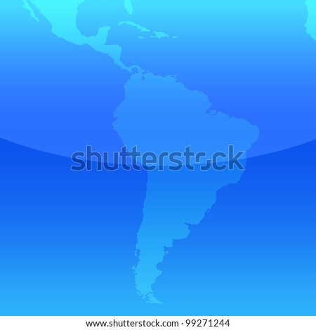 South america map, illustration - stock photo