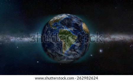 South American Day (Elements of this image furnished by NASA) - stock photo