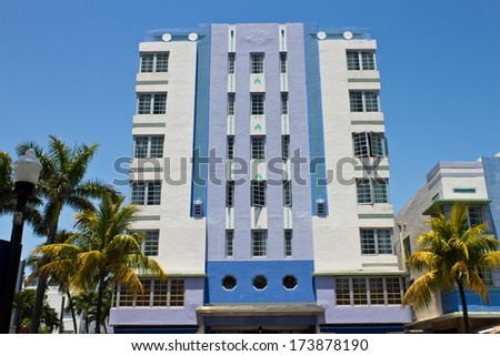 south beach art deco building miami stock photo royalty free